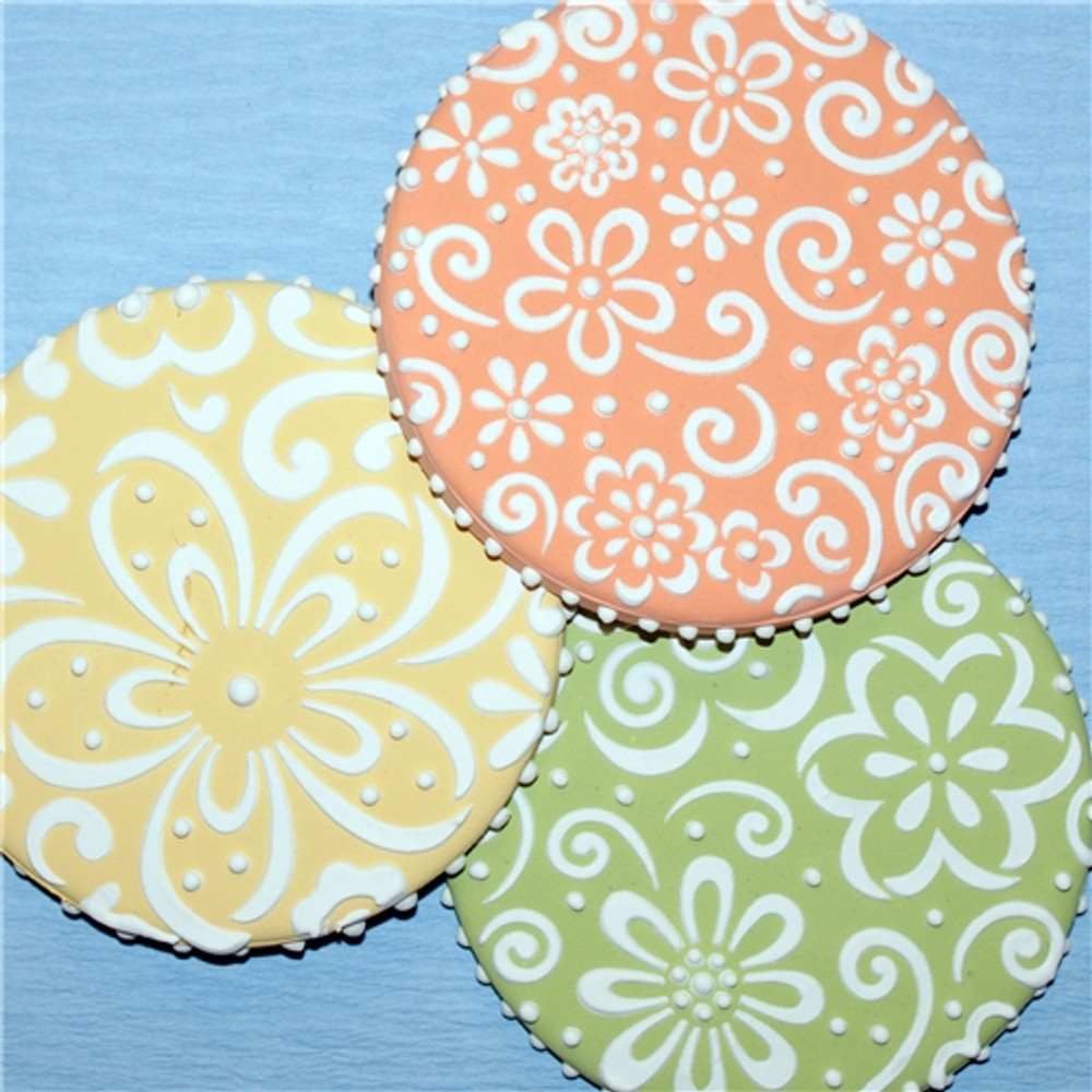 Whimsical Flower Cookie Stencil Set