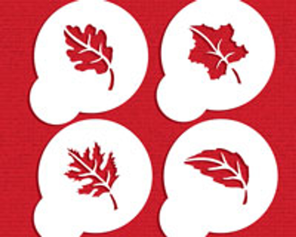 Whole Leaves Cookie Stencil Set