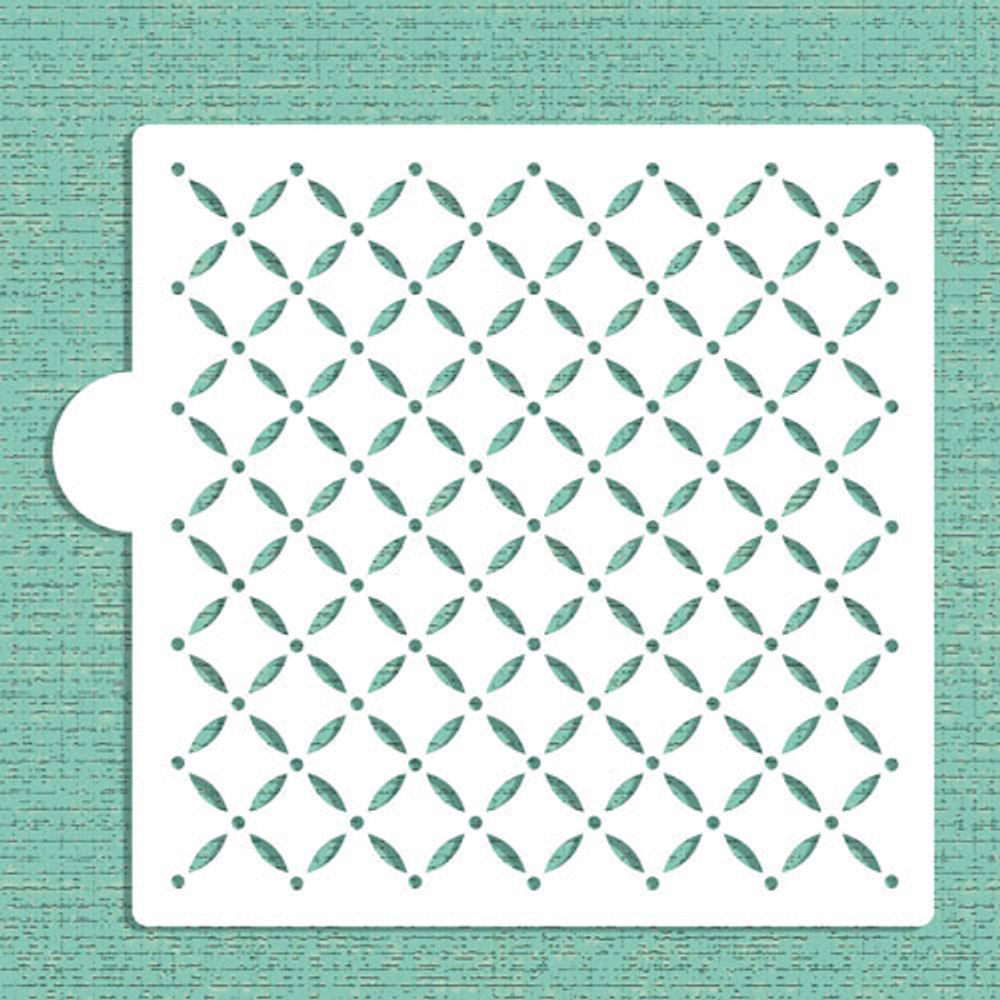 Swiss Dot Lattice Cookie and Craft Stencil
