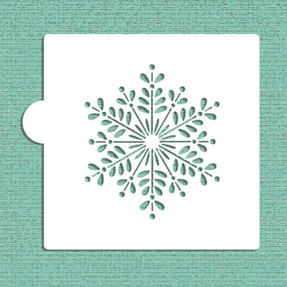 Retro Snowflake Cookie and Craft Stencil