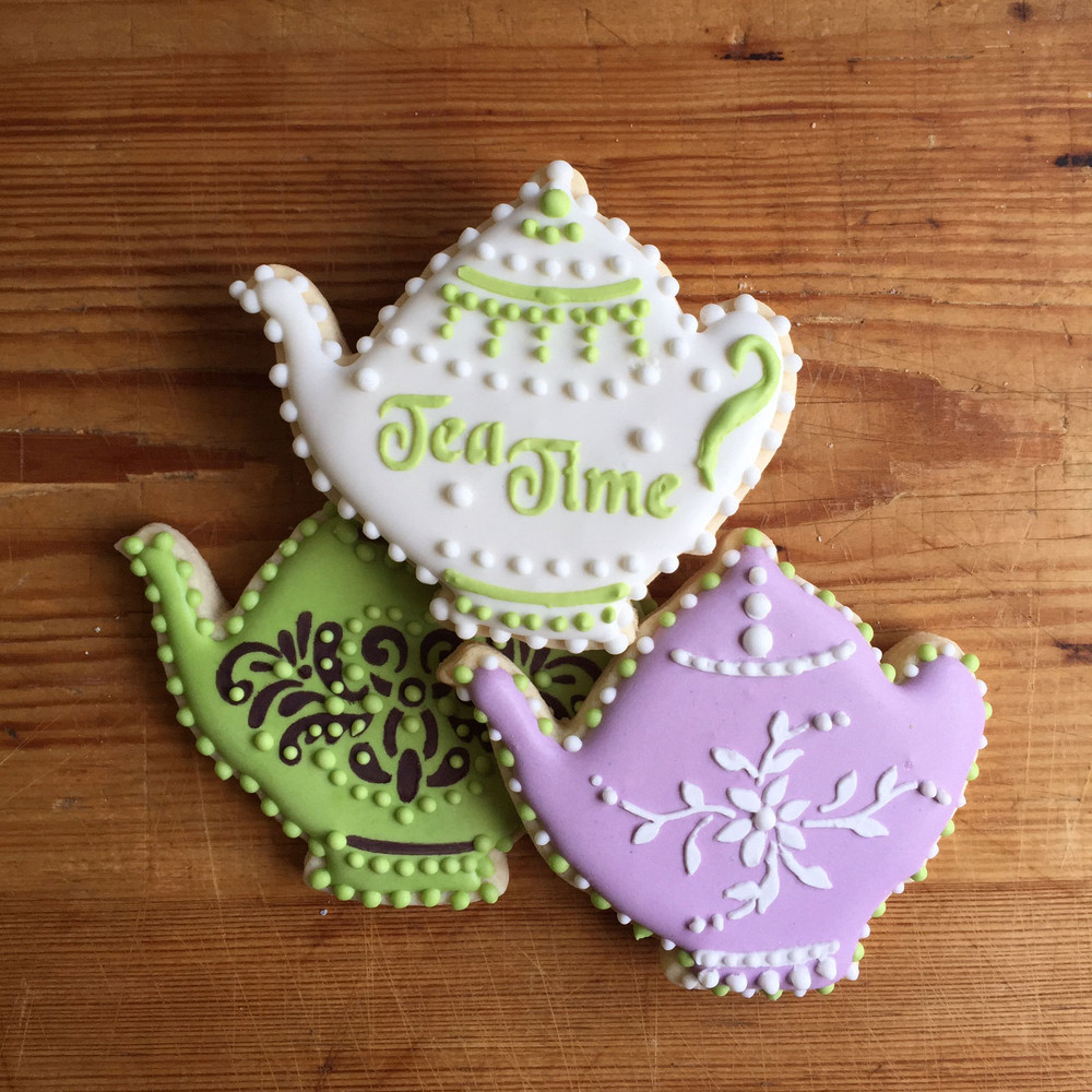 Teapot for Tea Time Tin Cookie Cutter and Stencil Set