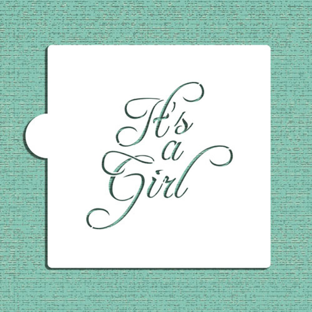 It's A Girl Cookie and Craft Stencil
