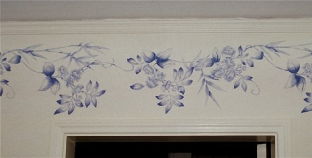 Blossoms and Bamboo Wall Stencil by Jeff Raum