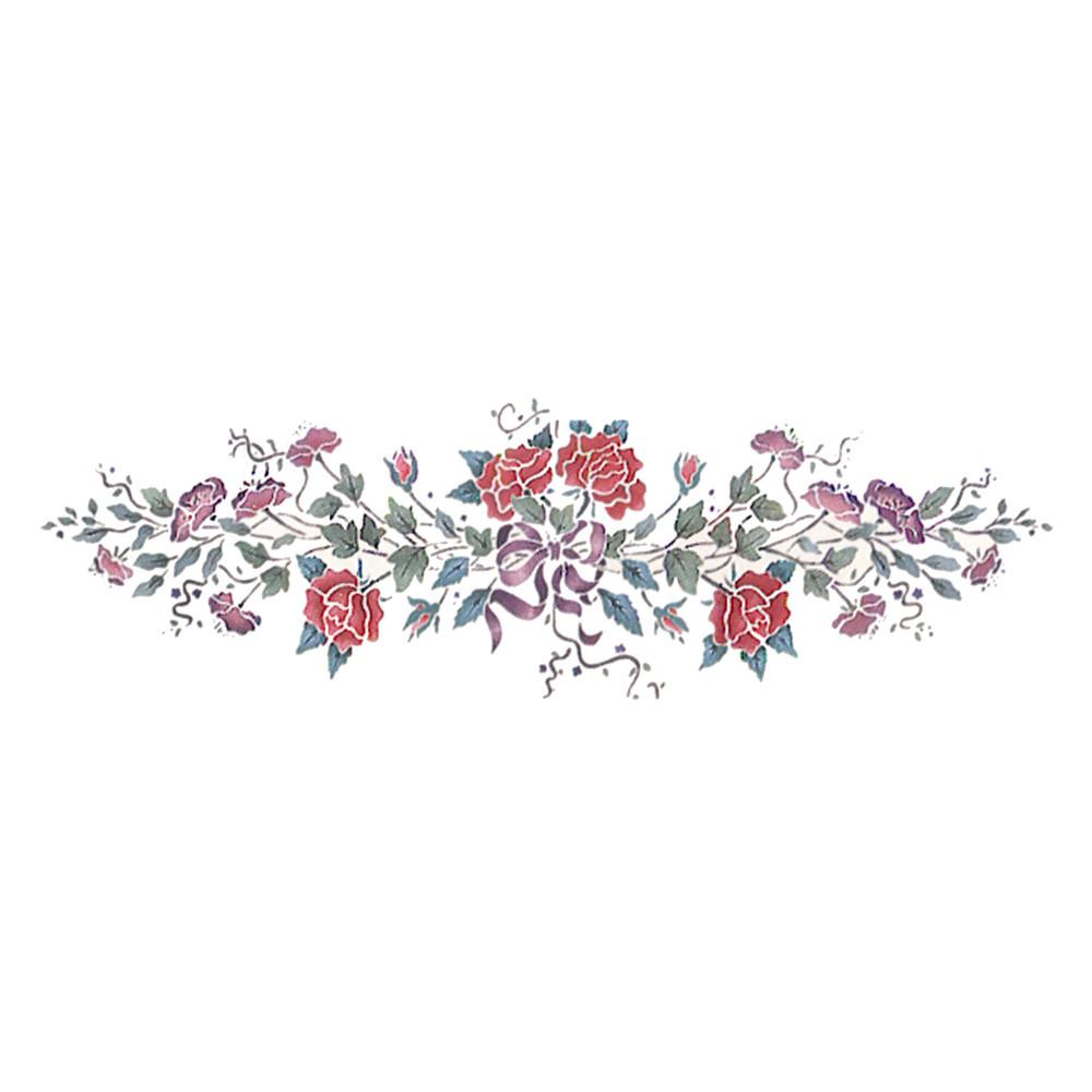 Victorian Rose Spray Wall Stencil by DeeSigns