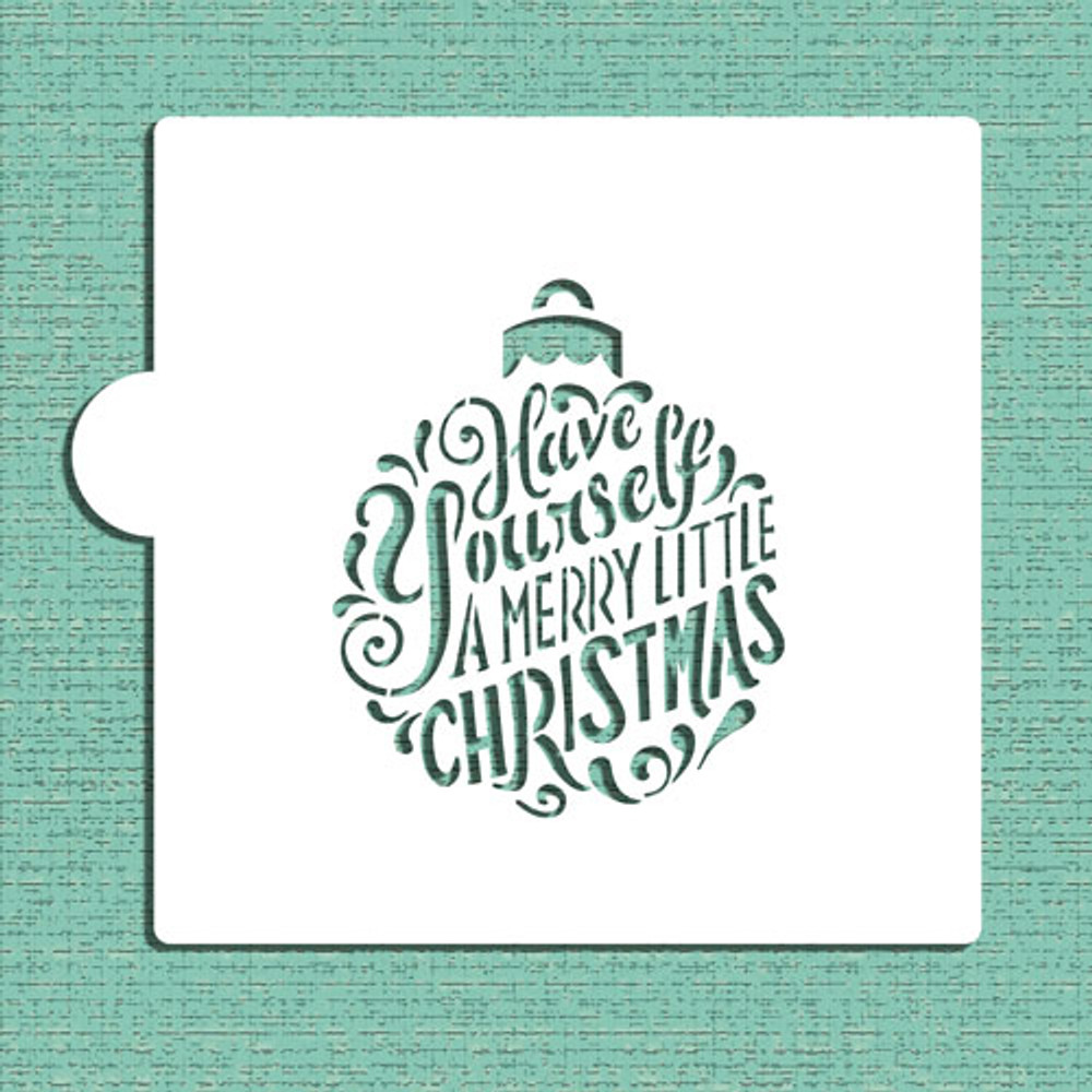 Merry Little Christmas Ornament Cookie and Craft Stencil