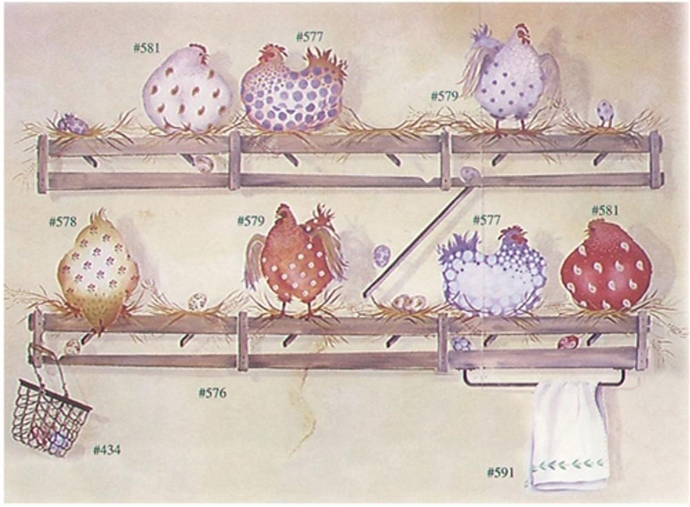 Chicken Coop Wall Stencil by DeeSigns