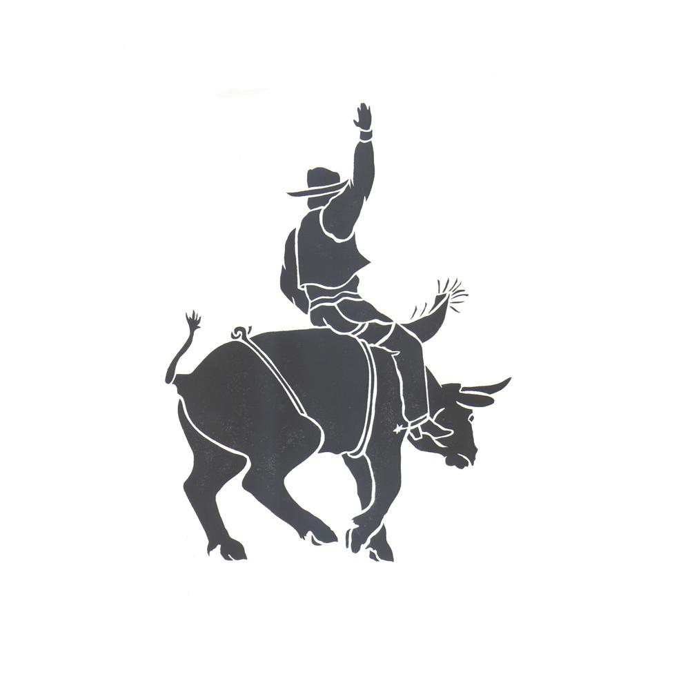 Wild Rider Cowboy Wall Stencil by DeeSigns
