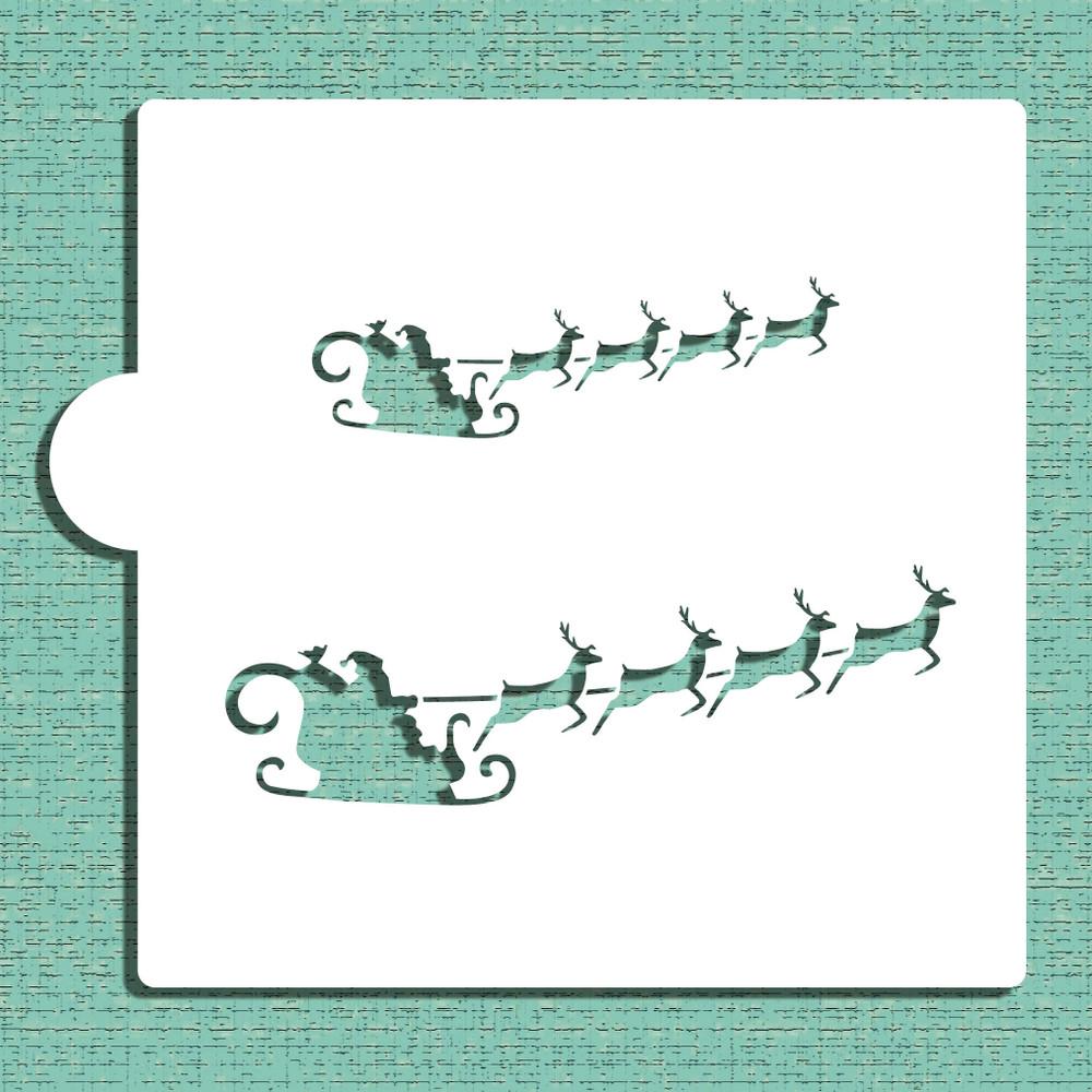 Santa's Sleigh Cookie and Craft Stencil