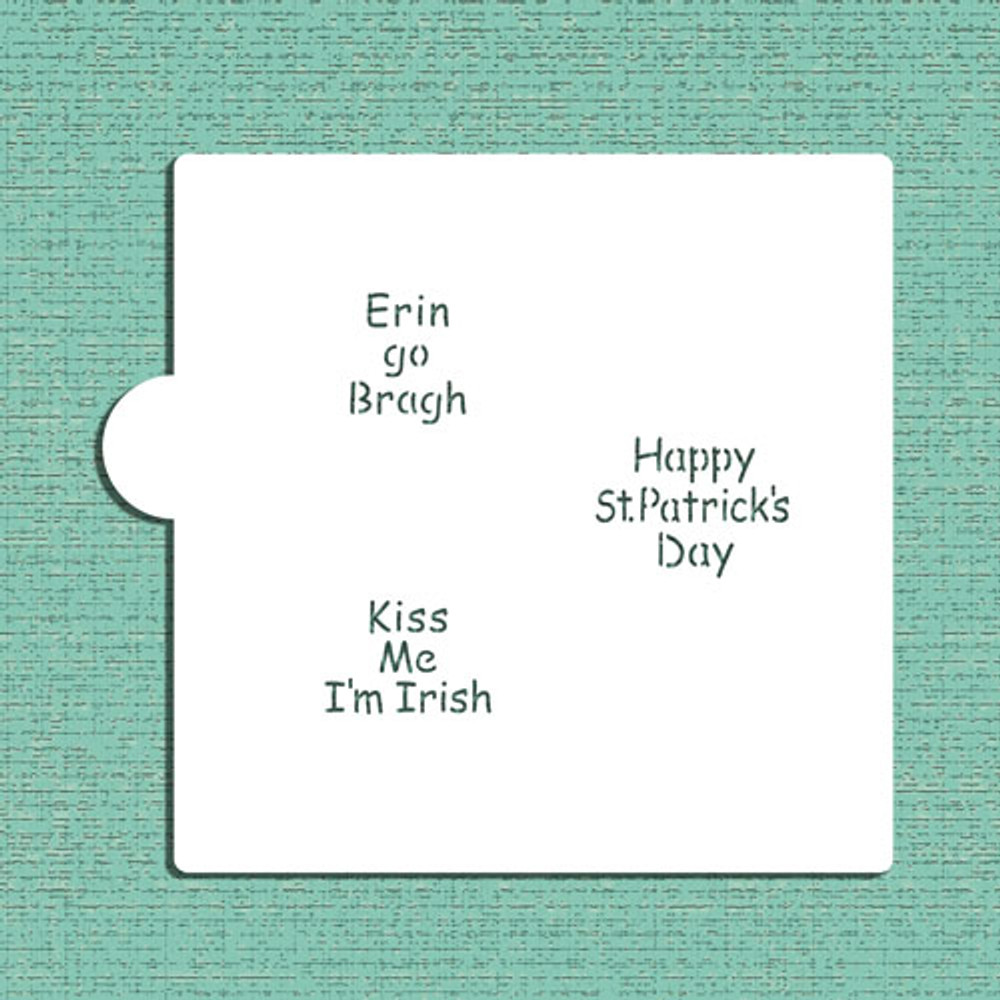 Irish Sayings Cookie and Craft Stencil