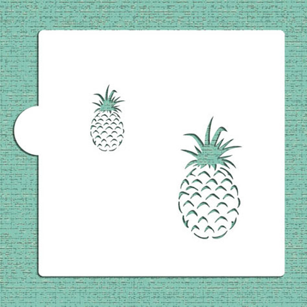 Pineapple Cookie and Craft Stencil