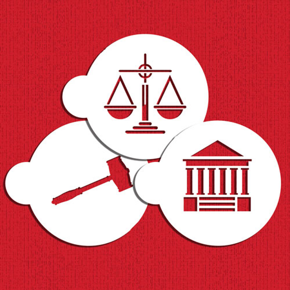 Law and Justice Cookie Stencil Set