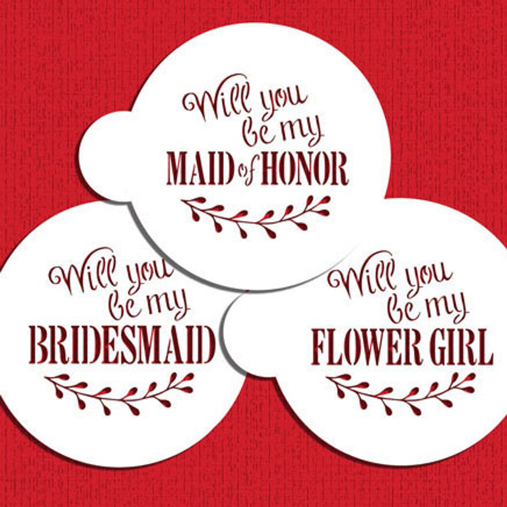 Will You Be My Bridesmaid? Cookie Stencil Set
