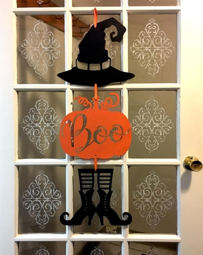 Pumpkin Witch Wood Door or Wall Hanging