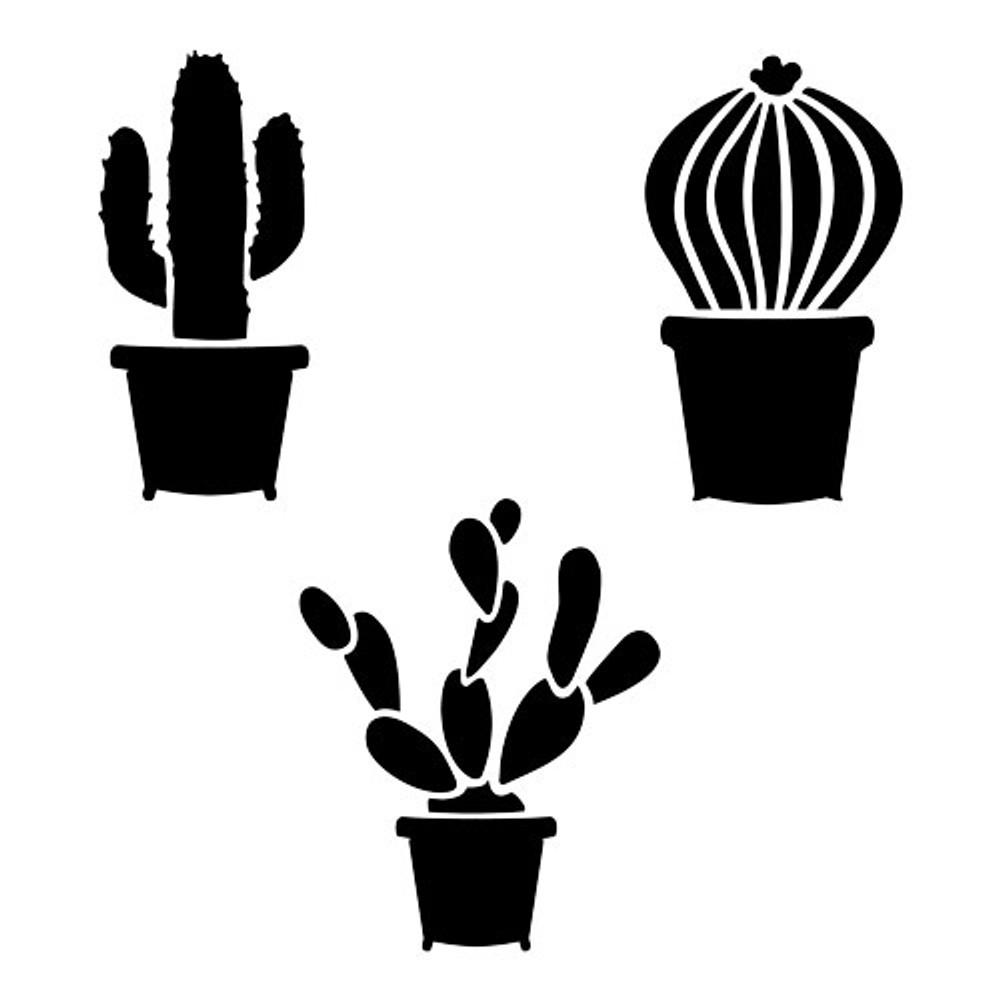 Cactus Stencil (10 mil plastic)