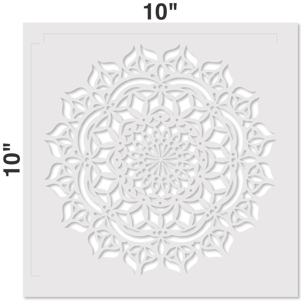 Asana Mandala Stencil Measurements
