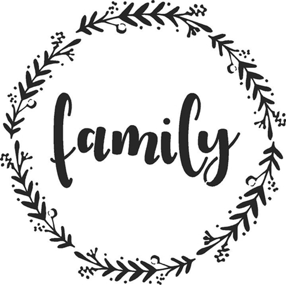 """""""Family - Welcome - Gather"""" Lettering Stencil- Family"""