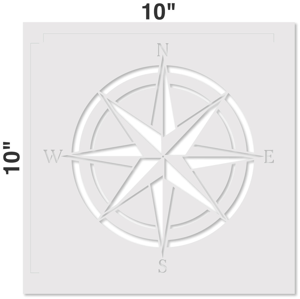 Compass Rose Wall Stencil Measurements