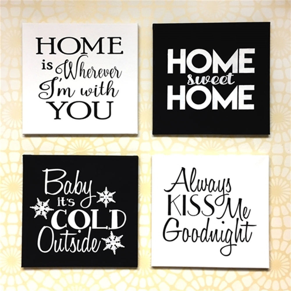 """""""Baby It's Cold Outside"""" Sign Stencil Sign Collage"""