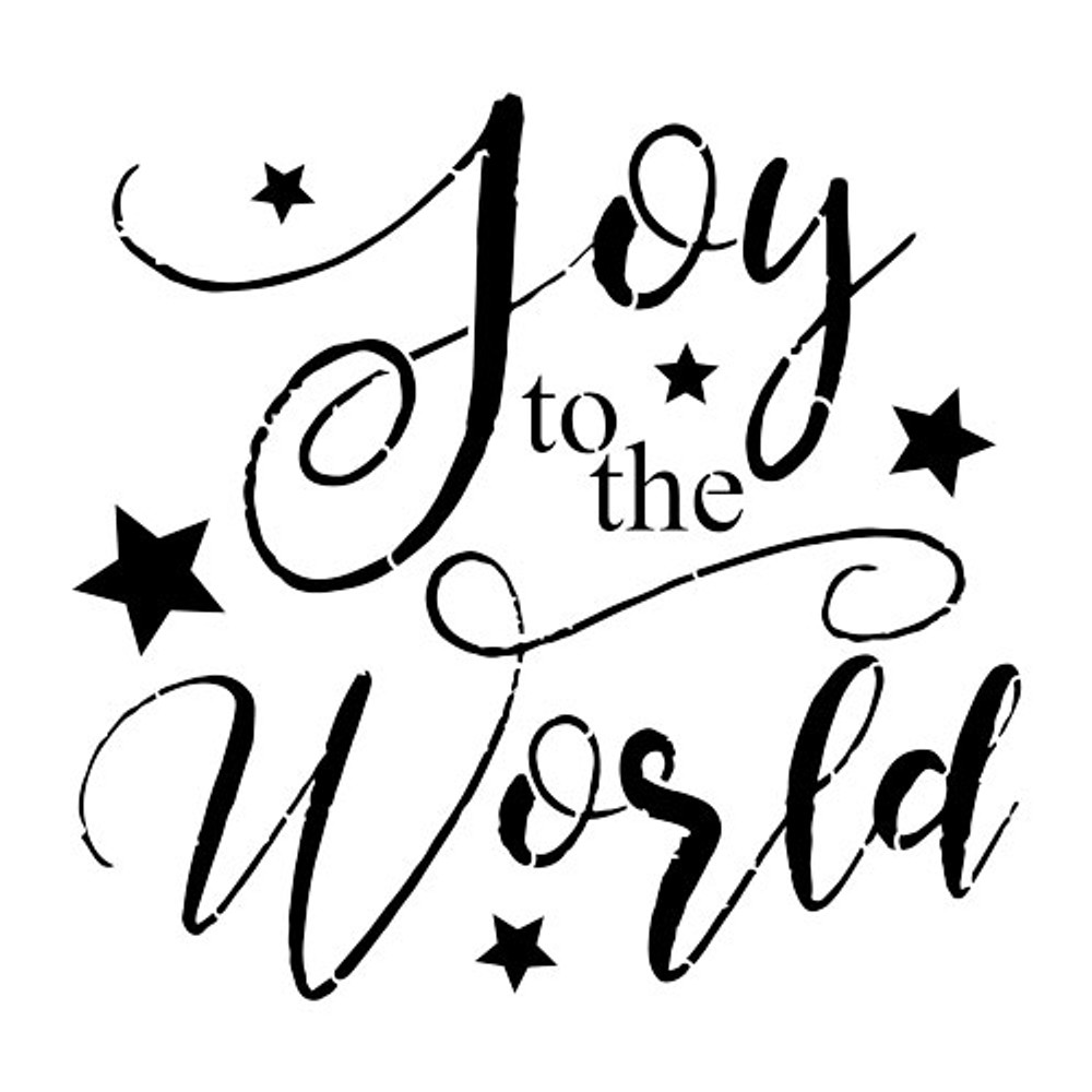 """""""Joy To The World"""" Sign Stencil (10 mil plastic)"""