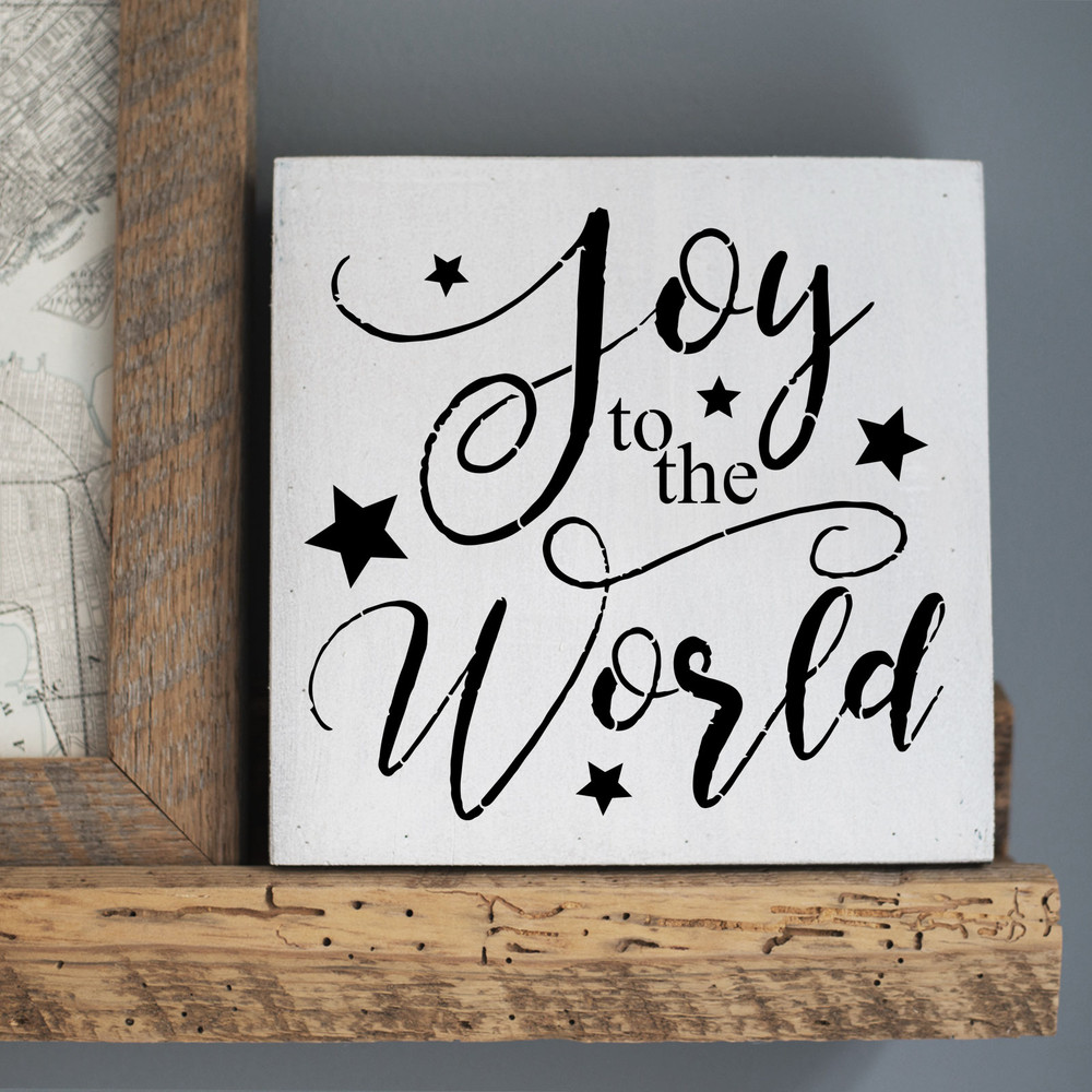 """""""Joy To The World"""" Sign Stencil Sign"""
