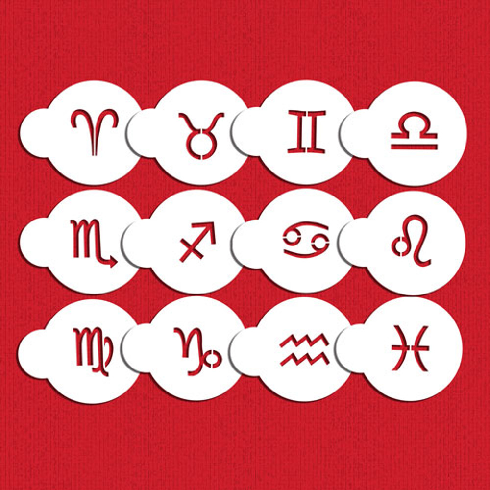Astrological Zodiac Signs Cookie Stencil Set