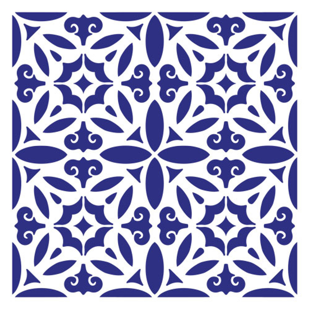 Old World Tile Wall Stencil