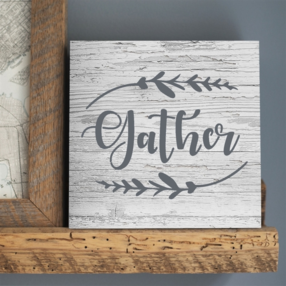 """Gather"" Sign Stencil Sign"