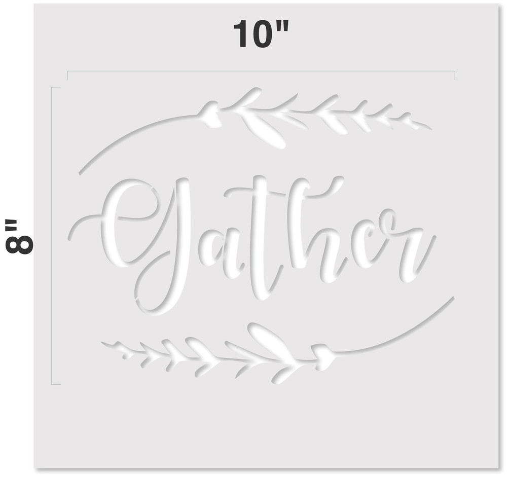 """Gather"" Sign Stencil Measurements"