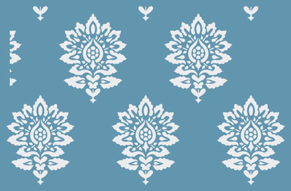 Batik Damask all over pattern Wall Stencil