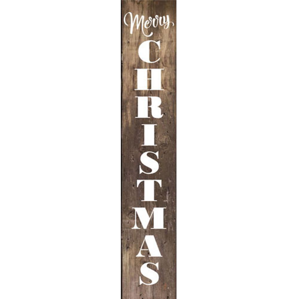 Merry Christmas Wall Stencil SKU #3810