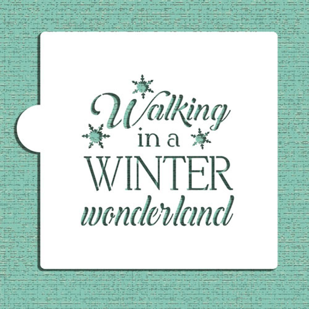 Walking In A Winter Wonderland Cookie and Craft Stencil