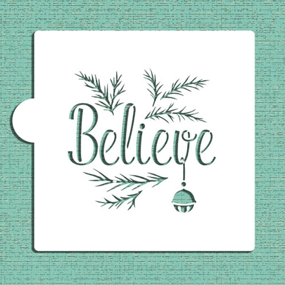 Believe Cookie and Craft Stencil