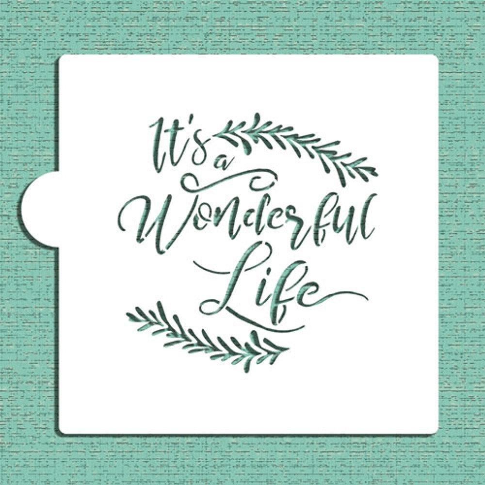 It's a Wonderful Life Cookie and Craft Stencil