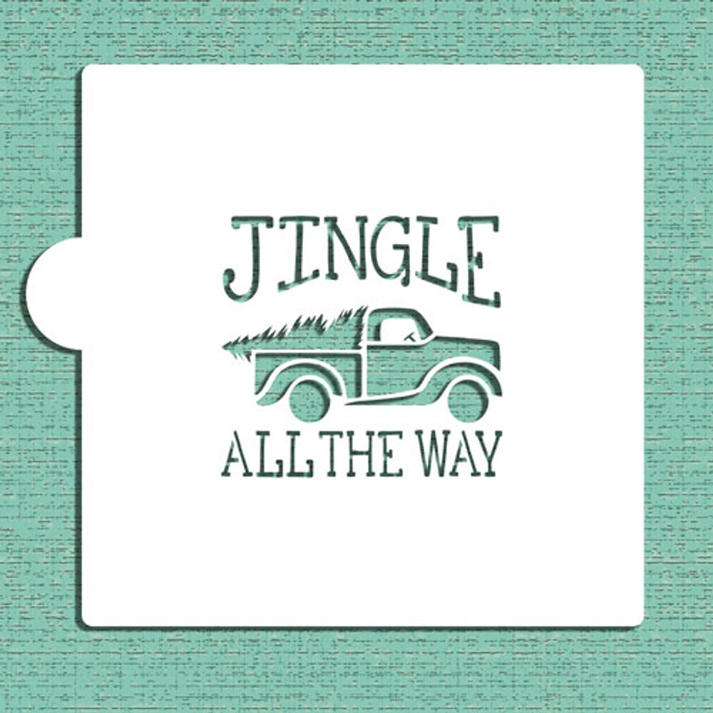 Jingle Vintage Truck Cookie and Craft Stencil