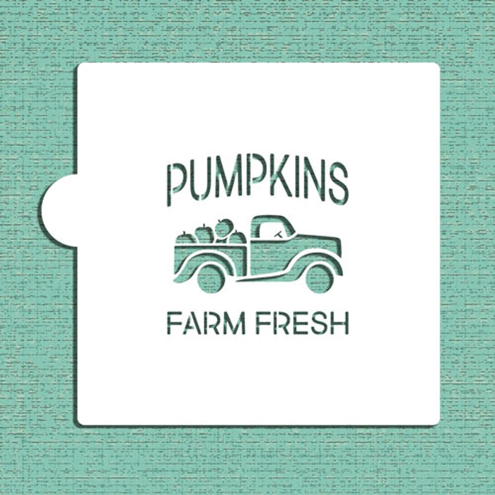 Vintage Pumpkin Truck Cookie and Craft Stencil