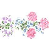 Rose and Violets Spray Wall Stencil SKU #3817