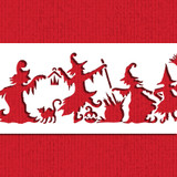 Dancing Witches Cake Side Stencil