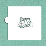 Witchy Happy Halloween Cookie and Craft Stencil