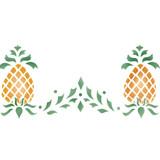 Colonial Pineapple Wall Stencil Border