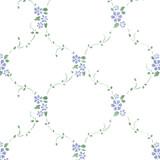 Flower Lattice Wall Stencil