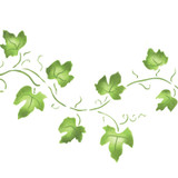 Large Ivy Vine Wall Stencil