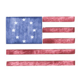 Single Flag Wall Stencil