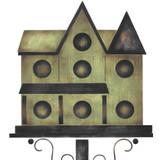 Small Victorian Birdhouse Wall Stencil
