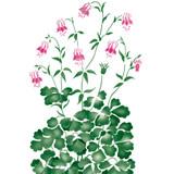 Columbine Flower Wall Stencil