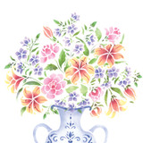 Large Flower Bouquet Wall Stencil
