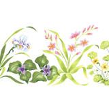 Small Iris Mix Flower Wall Stencil