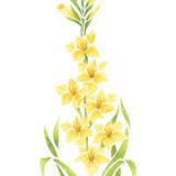 Gladiolus Flower Wall Stencil