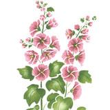 Large Hollyhock Flower Wall Stencil