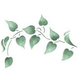 Twisting Leaf Border Wall Stencil