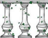 Column with Ivy Wall Stencil